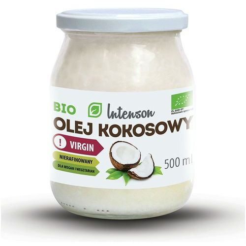 Olej kokosowy Virgin 500 ml Intenson (5902150281948)