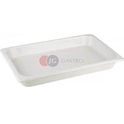 Pojemnik GN 1/1 h 65 porcelanowy biały 82100