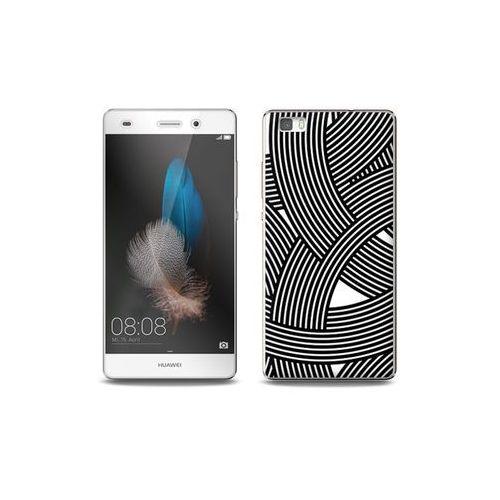 Huawei P8 Lite - etui na telefon Full Body Slim Fantastic - biało-czarna mozaika, ETHW190FBSFFC027000