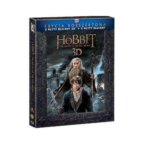 Hobbit: Bitwa Pięciu Armii - Wydanie rozszerzone (5 Blu-ray, wersja 3D) (7321999339043)