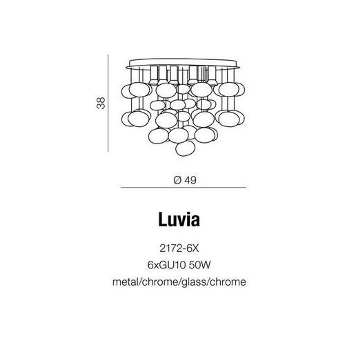 Azzardo Lampa wisząca luvia / 2172-6x (5901238407218)