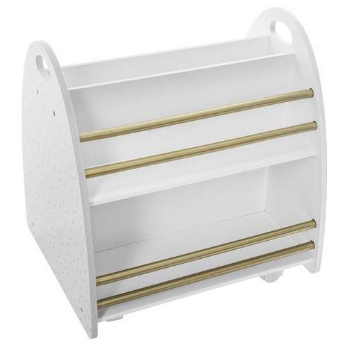 Atmosphera créateur d'intérieur Szafka na książki dla dzieci, regał drewniany, regał biały, regał na książki biały, półki do pokoju dziecięcego, szafka na kółkach (3560239688433)
