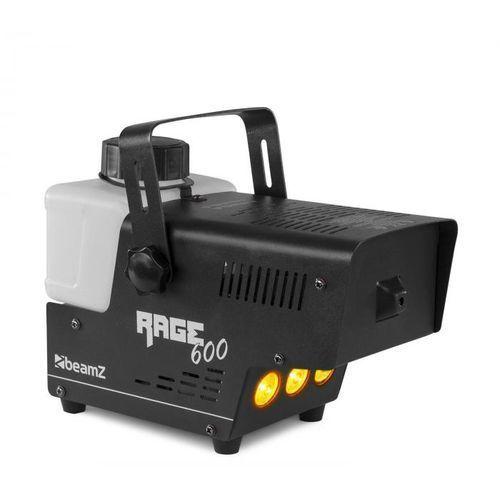 Beamz Rage 600LED, wytwornica mgły, 600 W, 65 m3/min, 3 x dioda LED, 0,5 l, pilot przewodowy, 160.704