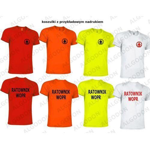 3dd203f1d31f5d T-shirt koszulka oddychająca ratownik wopr rozmiary dziecięce i dorosłe 4-5-wzrost-116-134-cm  bialy napis-czerwony-logo-czerwone marki Valento 33,21 zł ...