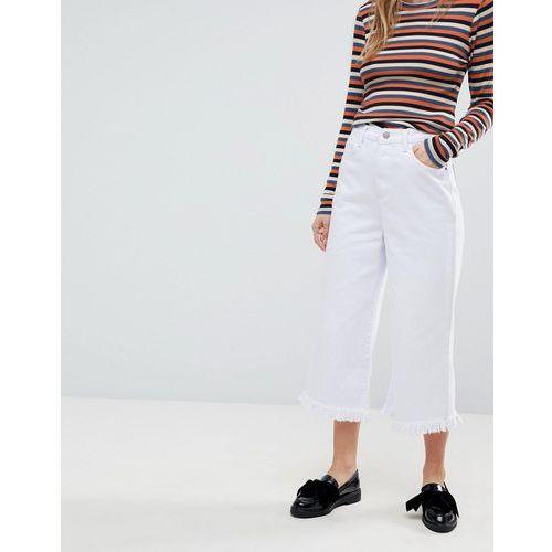 Glamorous Culotte Jeans - White, culotte