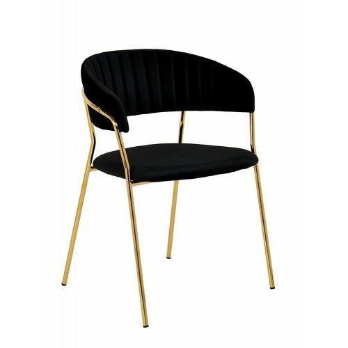 Kh Krzesło margo welur, podstawa złota