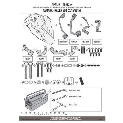 rp2122k osłona silnika aluminiowa yamaha mt-09 850 tracer (15-17) marki Kappa