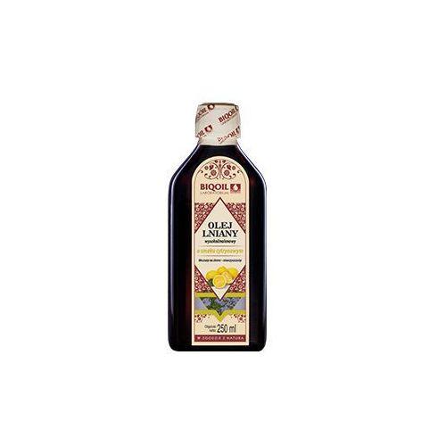 Olej lniany o smaku cytryny tłoczony na zimno OmegaLen® 250 ml