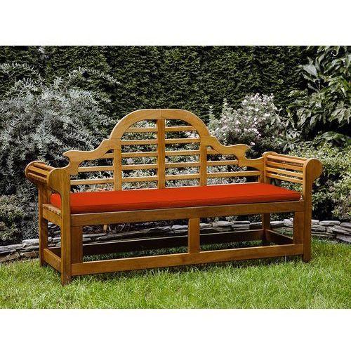 Ławka ogrodowa drewniana 180 cm poducha jasnoceglasta JAVA Marlboro