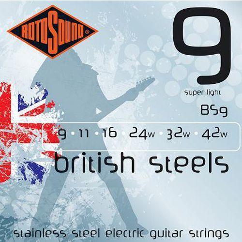 Rotosound bs9 british steels struny do gitary elektrycznej 9-42
