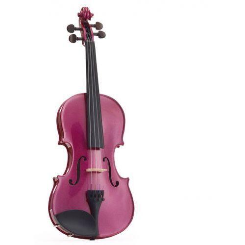 Stentor 1401rpa skrzypce 4/4 harlequin, zestaw, różowy