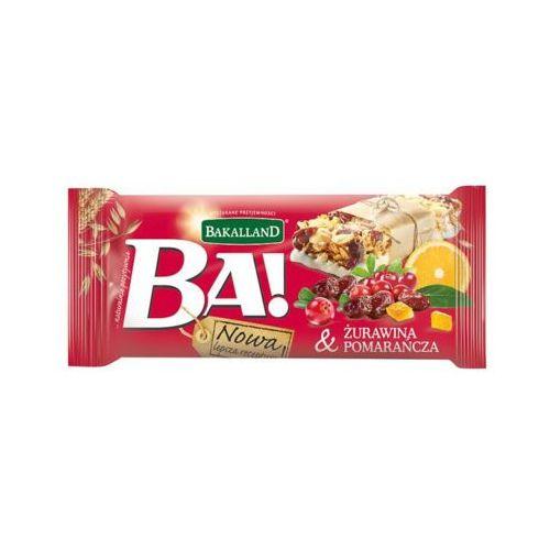 40g ba! baton zbożowy żurawina i pomarańcza marki Bakalland