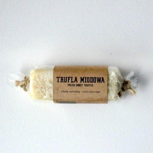 Baton miodowy trufla z białej czekolady 80 g 80 g marki Gospodarstwo pasieczne łysoń