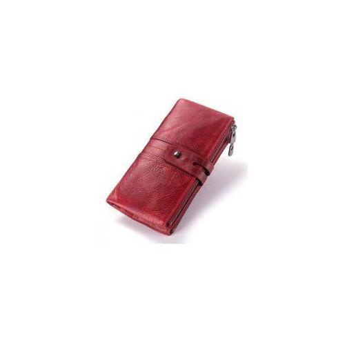 Portfel damski skórzany duży czerwony