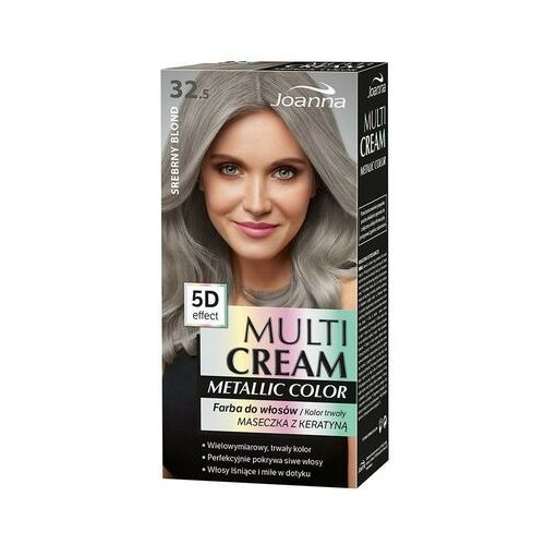 Joanna Multi Cream Metallic Color farba do włosów 32.5 Srebrny Blond (5901018018115)