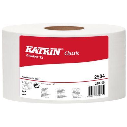 Papier toaletowy classic gigant s 2, 2 warstwy, makulatura bielona - 12 rolek marki Katrin