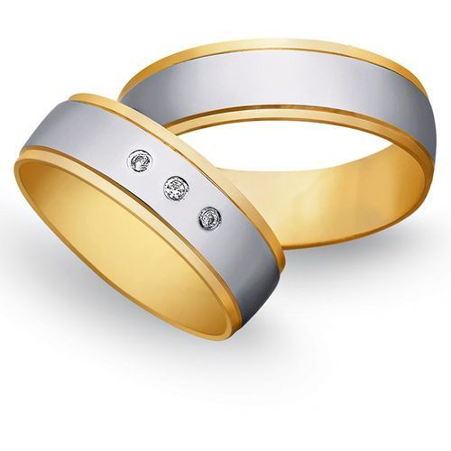 Obrączki z żółtego i białego złota 7mm - O2K/127 - produkt dostępny w Świat Złota