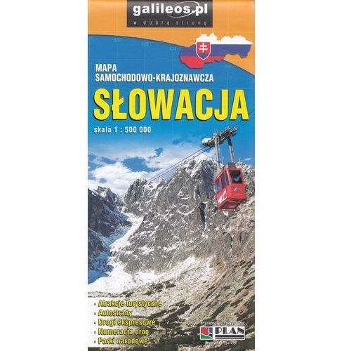 Praca zbiorowa. Słowacja. Mapa samochodowo-krajoznawcza 1:500 000 (2016)