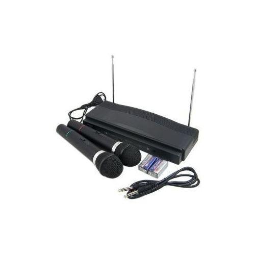 Kfs technology Zestaw do karaoke: stacja + 2 bezprzewodowe mikrofony.