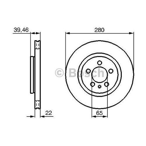 tarcza hamulcowa; przednia, 0 986 479 156 marki Bosch