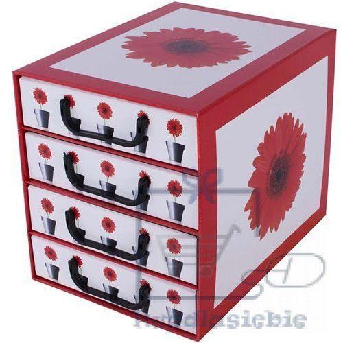 Pudełko kartonowe 4 szuflady pionowe DONICZKI-GERBERY
