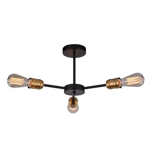 Lampa wisząca zwis żyrandol goldie 3x60w e27 czarny, miedź 33-55750 marki Candellux