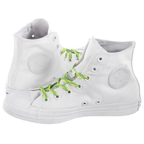 Trampki Converse CT All Star Hi White/Acid Green 564123C (CO392-a), w 7 rozmiarach