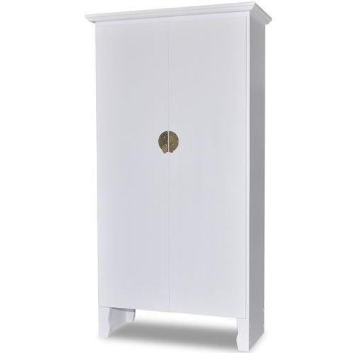 vidaXL Drewniana szafa z orientalnymi zdobieniami 3 półki + podwójne drzwi - oferta [35a54f74b78547f1]