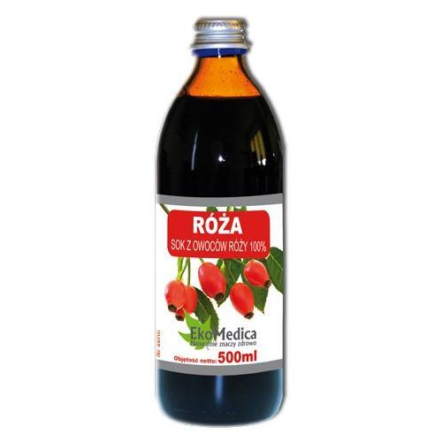 Róża sok z owoców róży 500ml marki Ekamedica
