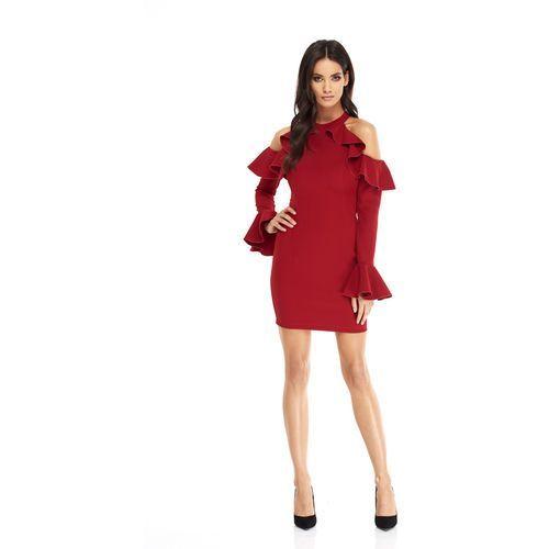 Sukienka Ava w kolorze bordowym