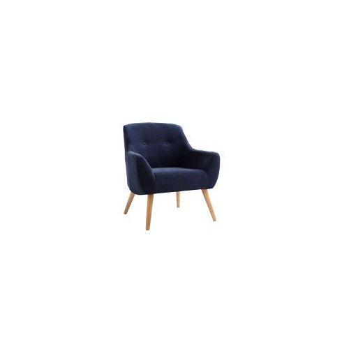 Fotel BETTY, granatowy, naturalny, kolor niebieski