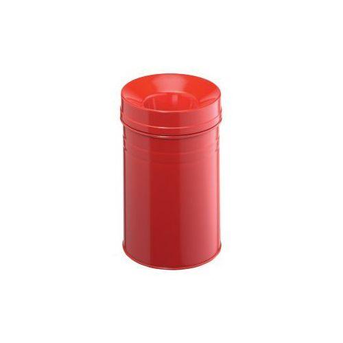 Kosz na śmieci okrągły 15l SAFE+ czerwony - produkt dostępny w dobiura24.pl