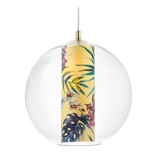 Kaspa - lampa wisząca feria l, żółta - żółty ||złoty
