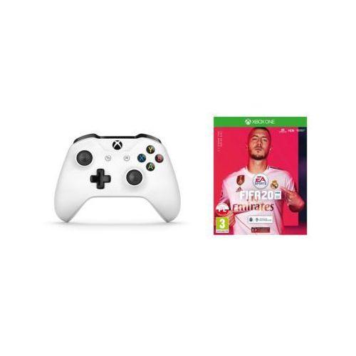 Tf5-00004 biały do xbox one + fifa 20 kontroler bezprzewodowy marki Microsoft