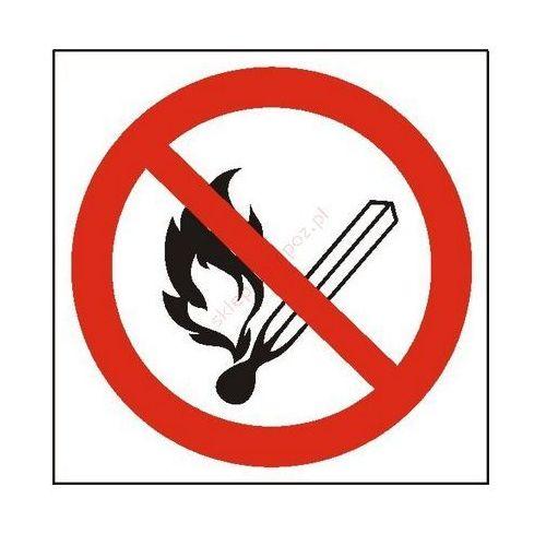 Techem Znak zakaz używania otwartego ognia i palenia tytoniu pb