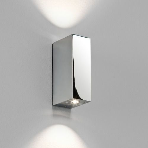 Astro Bloc mk2 led up/down wall light chrome