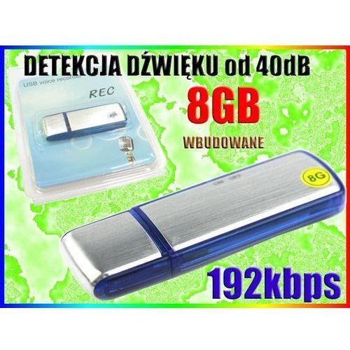 DYKTAFON CYFROWY PODSŁUCH DETEKCJA DŹWIĘKU 8GB GW, Sklep-Szpiegowski.PL