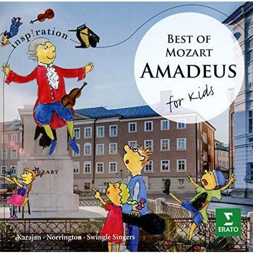 Amadeus for kids - karajan, norrington, zacharias, swingle singers (płyta cd) marki Warner music poland