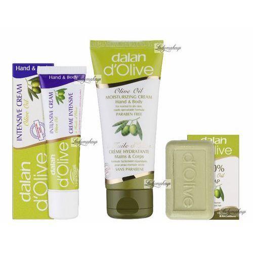 D'olive Dalan  - olive oil - świąteczny zestaw kosmetyków oliwkowych (mini mydełko oraz 2 kremy do rąk i ciała)