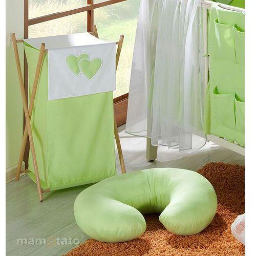 """poszewka na poduszkę do karmienia """"rogal"""" serduszka w zieleni marki Mamo-tato"""