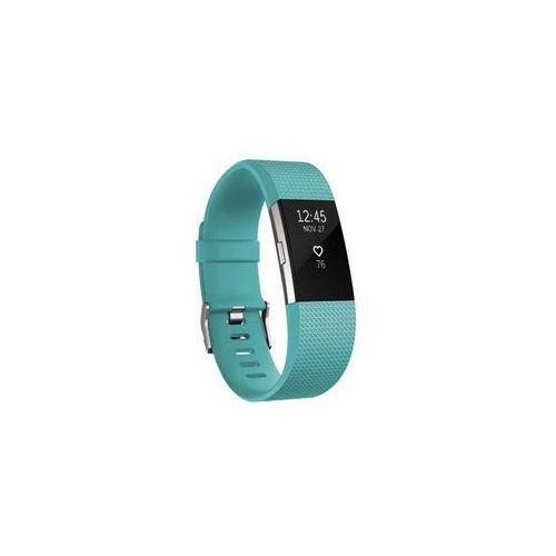 Fitbit opaska charge 2, morski/srebrny (teal/silver), duża (l)