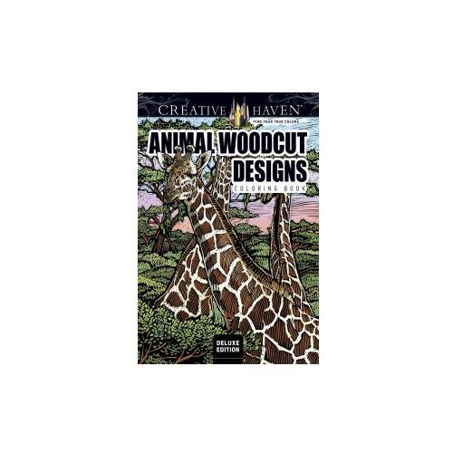 Creative Haven Deluxe Edition Animal Woodcut Designs Coloring Book (9780486809977)