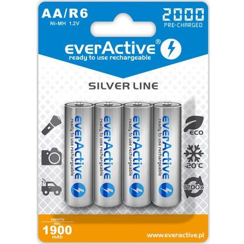 "Everactive 4x r6/aa ni-mh 2000 mah ready to use ""silver line"""