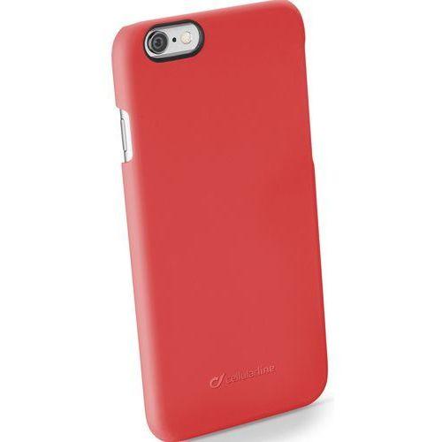 Etui CELLULAR LINE Rigid Satin do Apple iPhone 6/6S Czerwony, kolor czerwony