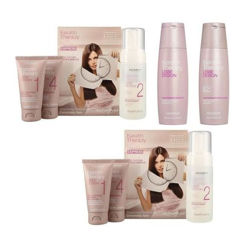 Alfaparf Keratin Therapy Smoothing Treatment Kit | 2x zestaw do keratynowego prostowania włosów + szampon 250ml + odżywka 250ml