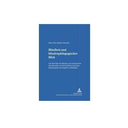 Blindheit und blindenpädagogischer Blick (9783631375952)
