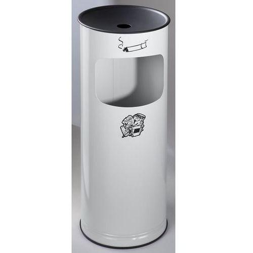 Var fahrzeug- und apparatebau Bezpieczna popielniczka combi, blacha stalowa, wys. 610 mm, miejsce na odpady: 1
