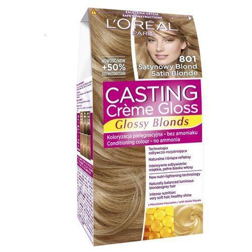 L'Oreal Paris, Casting Creme Gloss. Farba do włosów, 801 Satynowy blond - L'Oreal Paris, 3600521831854