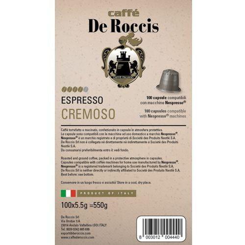 CREMOSO De Roccis kapsułki do Nespresso – 100 kapsułek (8003012004440)
