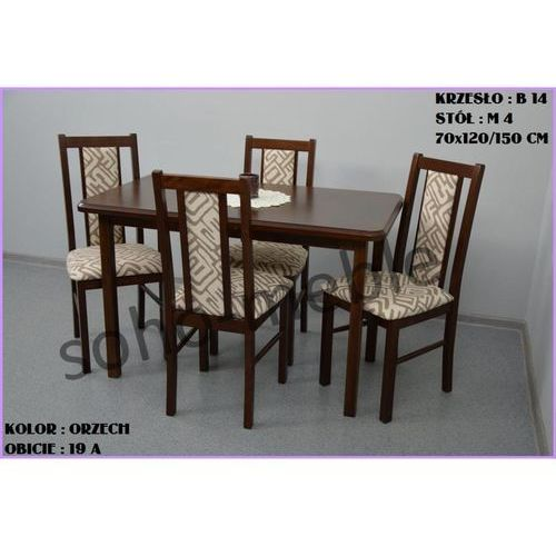 ZESTAW ZEFIR I 4 KRZESŁA B 14 + STÓŁ M 4 70x120/150 CM - produkt z kategorii- zestawy mebli do salonu